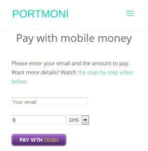 mobile money payment
