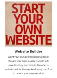 Benefits website business service example