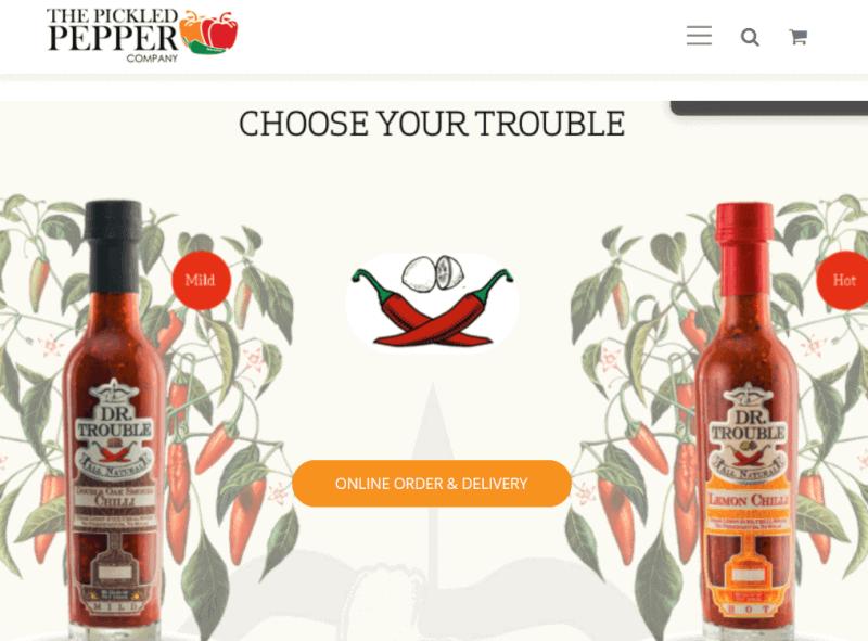 Website Builder Example: ThePickledPepper