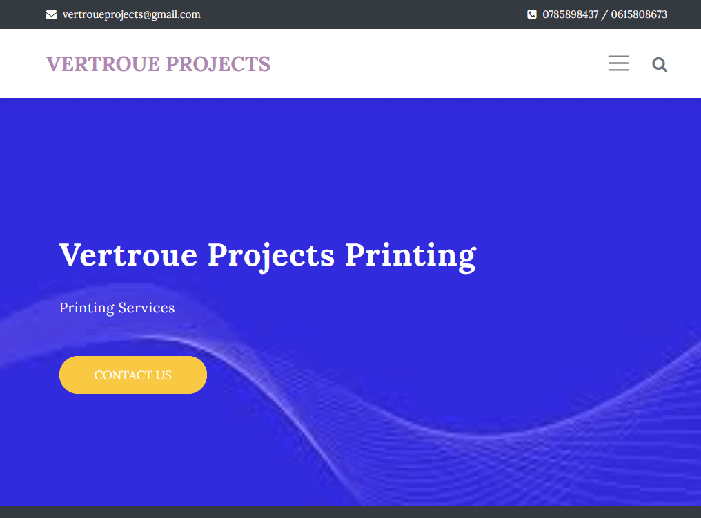 Build your site - Vertroue Projects