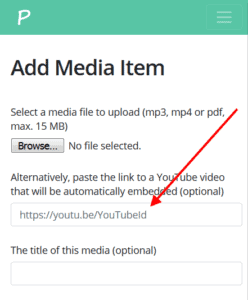 Paste the YouTube link inside your website editor