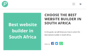 A new post website builder south africa