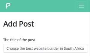 Create a post with the title website builder in South Africa
