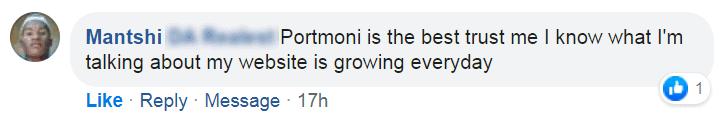 Testimonial: Portmoni is the best, trust me.