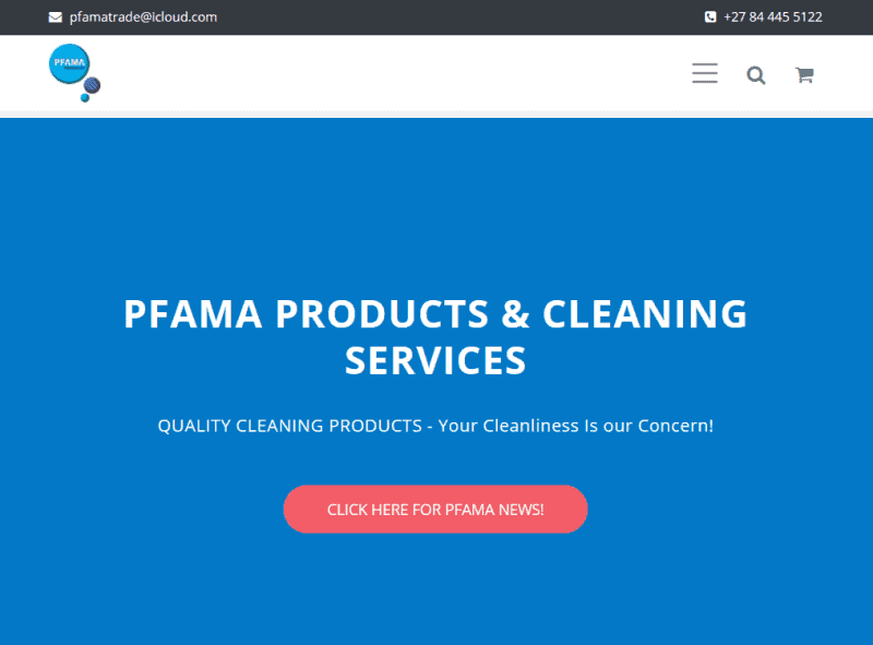 Pfama Cleaning and Sanitizing Services and Products