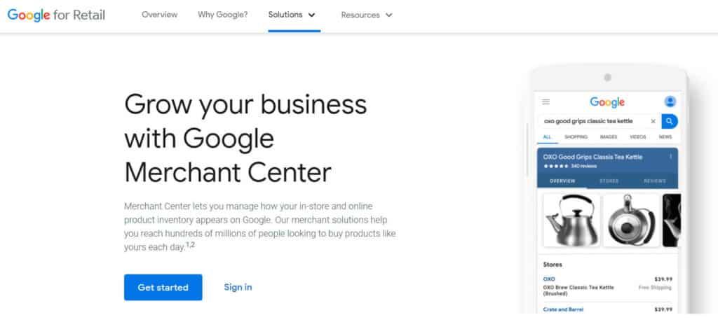 Google Shopping Setup