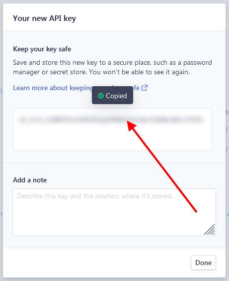 Copy secret key