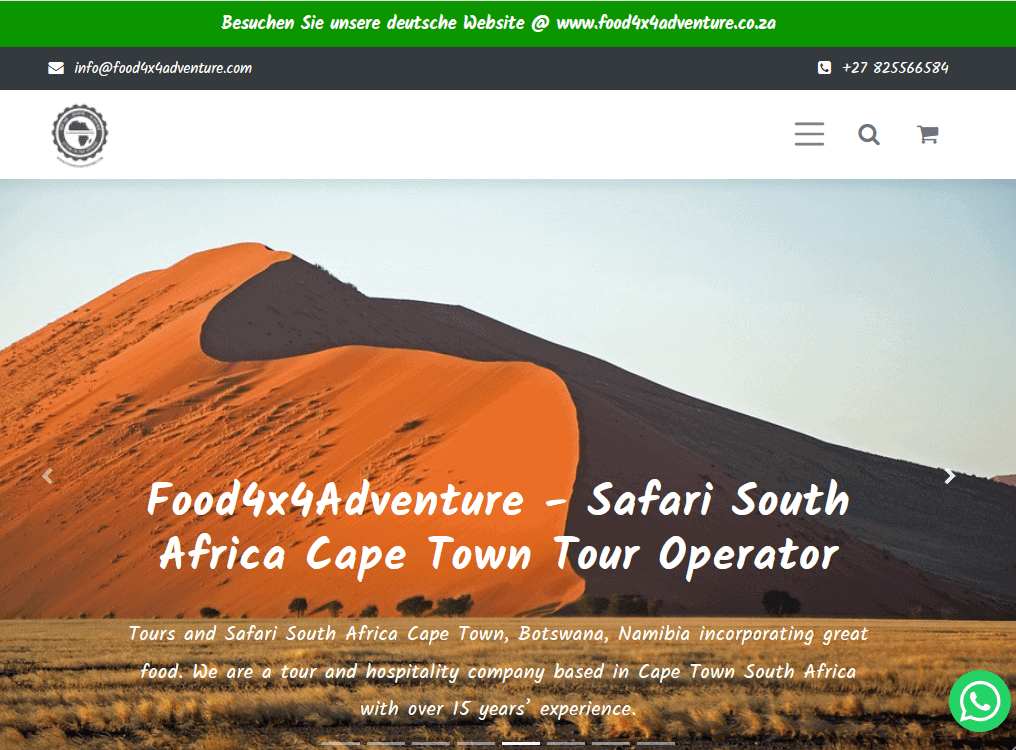 eCommerce Site food4x4adventure